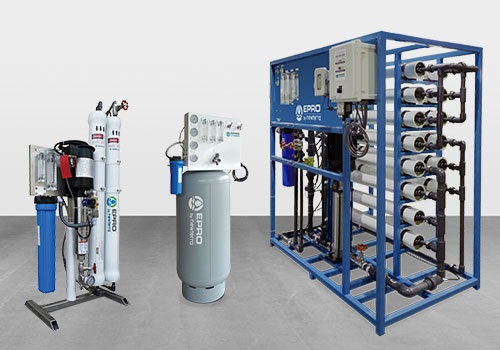 Standard Residential, Light Industrial and Commerical Reverse Osmosis RO treatment systems by EPRO