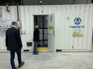 MBR System inside Newterra's Facility Demonstrating Toilet to Tap