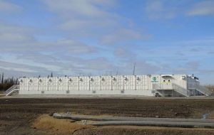 Modular MBR facility made of 52 containers located in northern Canada for 6,000 people sewage treatment