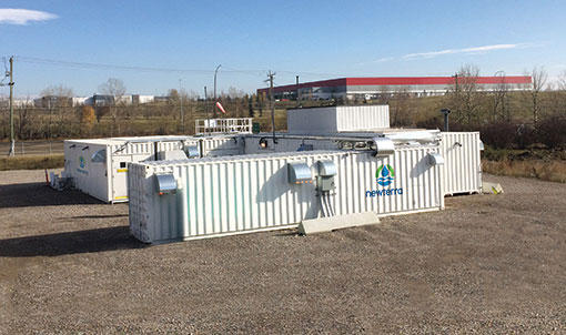 Modular Remediation System Refinery Site with iron treatment, longbox clarifiers and media filtration carbon